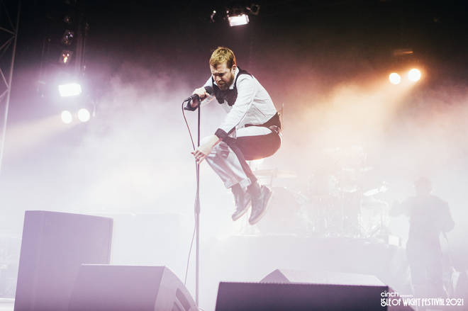 Kaiser Chief's Ricky Wilson was ready for lift-off.
