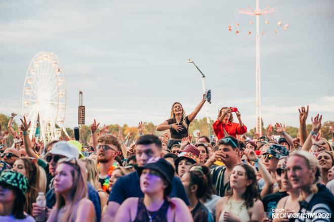 The crowd were well and truly pumped for a final day of festival anthems.