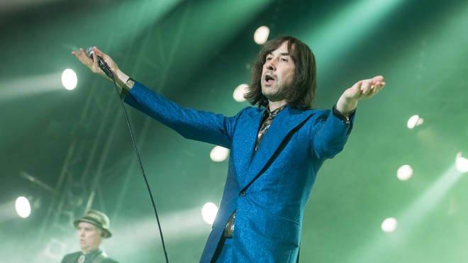 Primal Scream playing the Isle Of Wight Festival's Big Top.