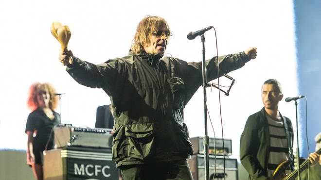 Liam Gallagher performs on stage at during Isle Of Wight Festival 2021