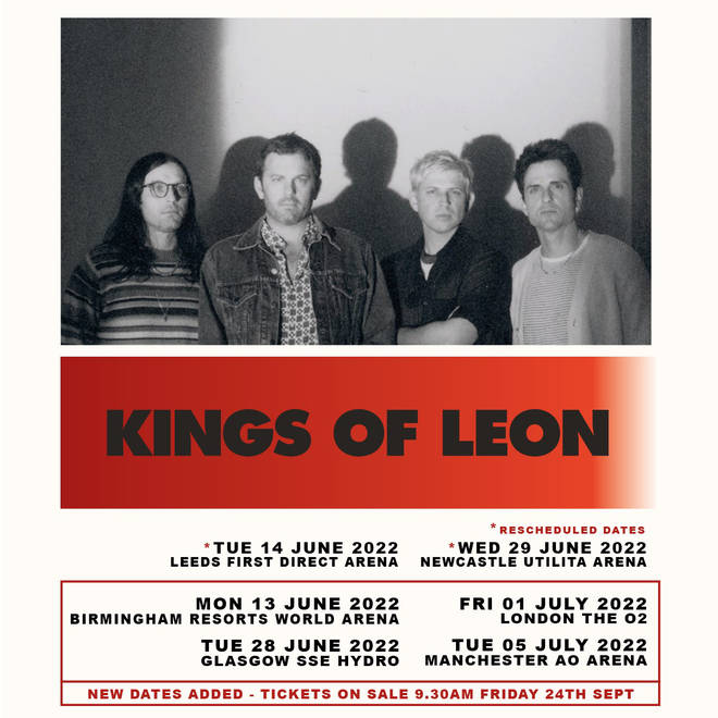 Kings of Leon have announced new UK tour dates for 2022