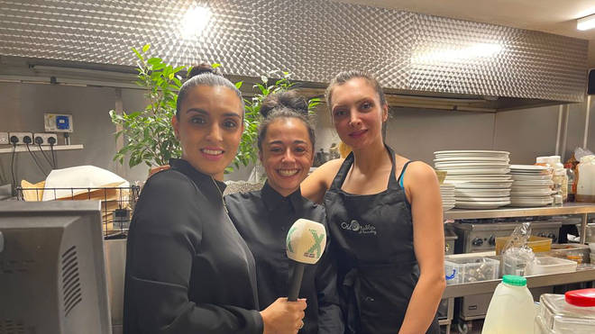 Shakeeka with Essy's staff members Mitre and Marrissa
