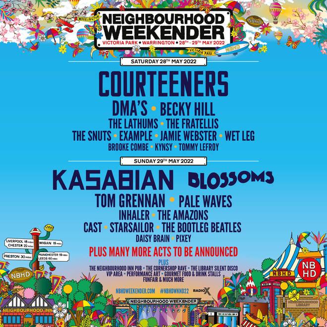 The line-up for Neighbourhood Weekender 2022 has been announced