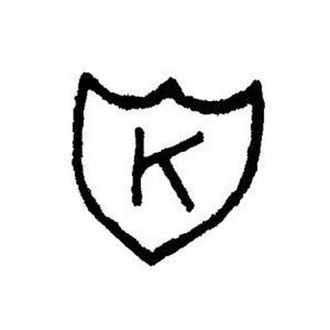 The K Records logo, which Kurt Cobain had tattooed on his forearm