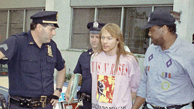 Axl Rose is arrested, 1992