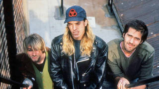 Nirvana in October 1990: Kurt Cobain, Dave Grohl and Krist Novoselic