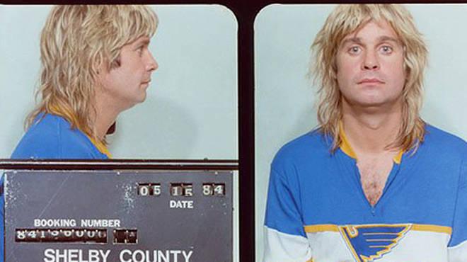 Ozzy Osbourne's mug shot, 1984