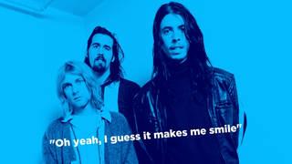 Nirvana in December 1992: Kurt Cobain, Krist Novoselic, Dave Grohl.