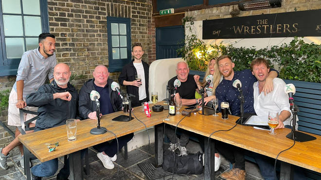 This is what the team looked like by the end of the Chris Moyles Show Pubcast 2021