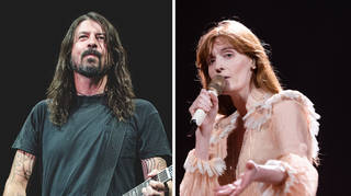 Foo Fighters' Dave Grohl and Florence Welch of Florence + The Machine