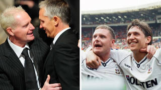 Gazza and Gary Lineker have remained close friends since they were teammates for Tottenham Hotspur back in the day.