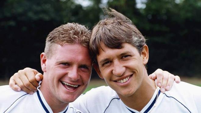 Lineker played alongside Gazza for England and Tottenham Hotspur.