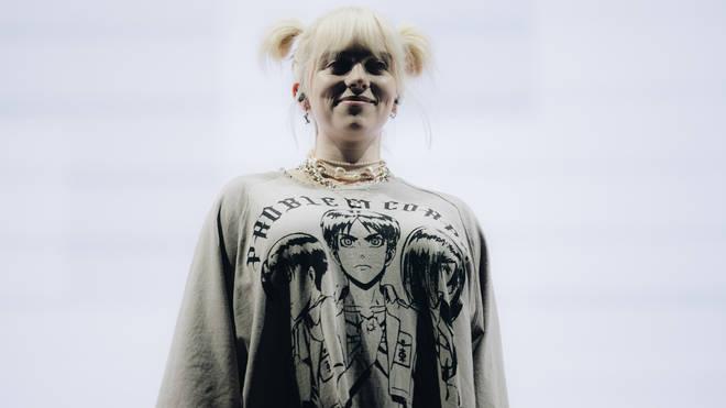 Billie Eilish performs onstage during Austin City Limits Festival at Zilker Park on October 02, 2021