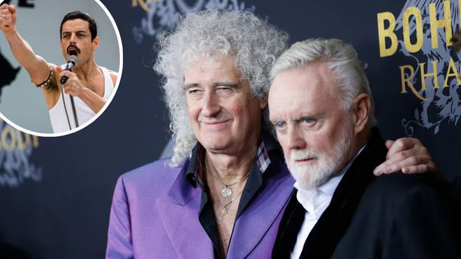 Rami Malek as Freddie Mercury and Brian May and Roger Taylor