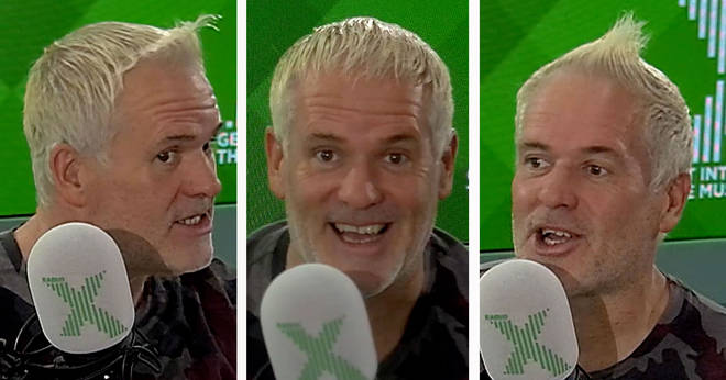 Chris Moyles tries out different hairstyles
