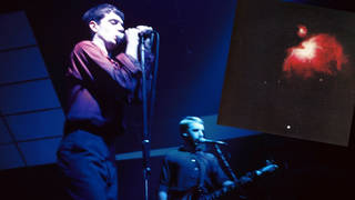 Joy Division's Ian Curtis and Peter Hook in 1979