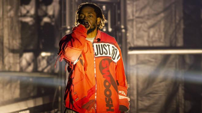 Kendrick Lamar performing in Colombia in 2019