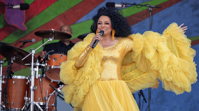 Diana Ross performing in New Orleans in 2019