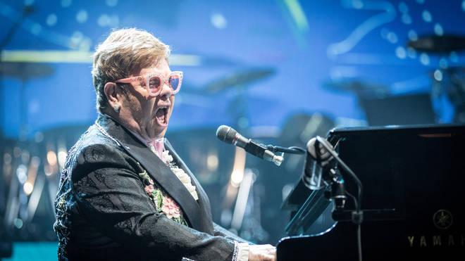 Elton John performing live in Copenhagen in May 2019