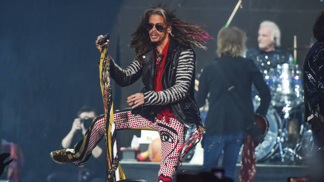 Aerosmith performing at the Super Bowl in February 2019