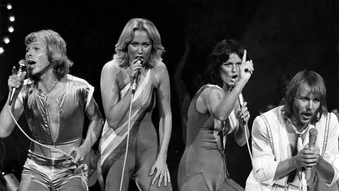 ABBA performing in Las Vegas in 1979