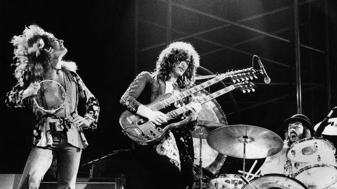 Robert Plant, Jimmy Page and John Bonham in their Led Zeppelin heyday, 1973