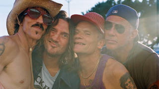 Red Hot Chili Peppers in 2021:  Anthony Kiedis, John Frusciante, Flea and Chad Smith