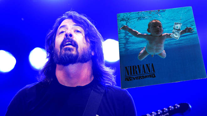 Dave Grohl and the cover to Nirvana's Nevermind