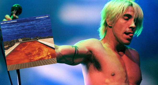 Anthony Kiedis in 1998 and Red Hot Chili Peppers' Californication album