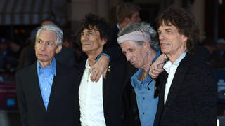 The Rolling Stones in 2012: Charlie Watts, Ronnie Wood, Keith Richards, Sir Mick Jagger