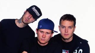 Blink-182 in 2001: Travis Barker, Tom DeLonge and Mark Hoppus