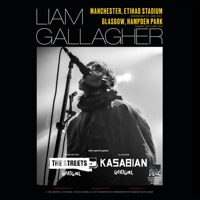Liam Gallagher had added shows in Manchester and Glasgow to his 2022 itinerary