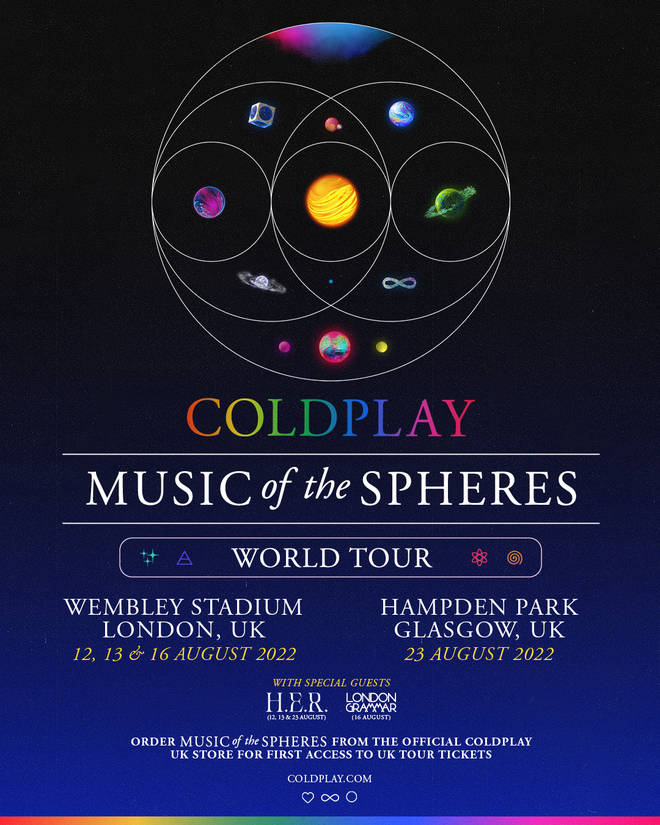 Coldplay - Music Of The Spheres World Tour poster