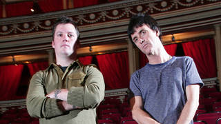 Modest Mouse's Isaac Brock and Johnny Marr at the Royal Albert Hall in May 2007