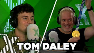Tom Daley visits The Chris Moyles Show