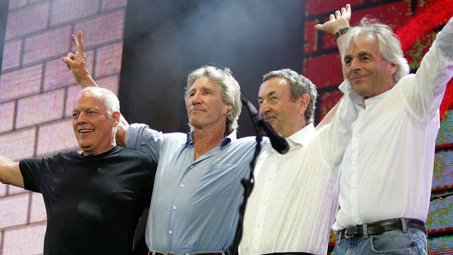 Pink Floyd's brief reunion at Live 8 in July 2005: David Gilmour, Roger Waters, Nick Mason and Rick Wright