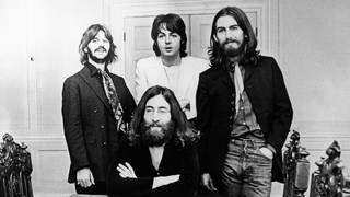 The Beatles at their final photo session together on 22 August 1969