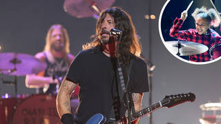 Dave Grohl with Nandi Bushell inset