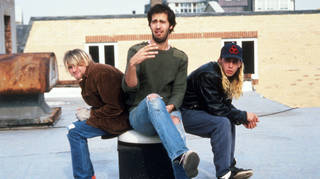 Nirvana in October 1990: Kurt Cobain, Krist Novoselic and Dave Grohl
