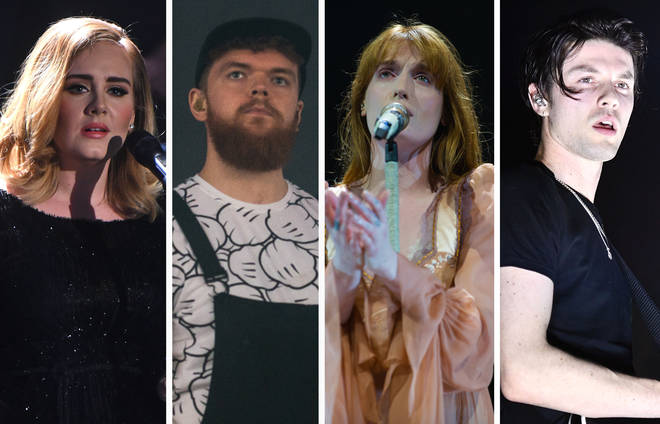Adele, Jack Garratt, Florence Welch and James Bay