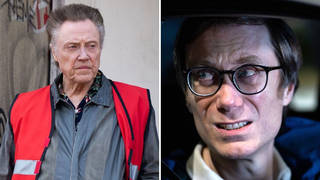 Christopher Walken and Stephen Merchant in the new BBC series The Outlaws