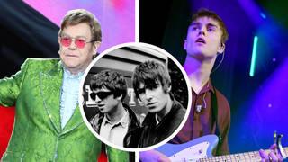 Elton John, Oasis and Sam Fender