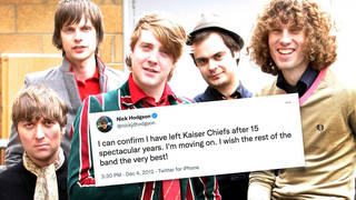 """The original line-up of Kaiser Chiefs in 2005: Andrew """"Whitey"""" White, Nick Hodgson, Ricky Wilson, Nick """"Peanut"""" Baines and Simon Rix."""