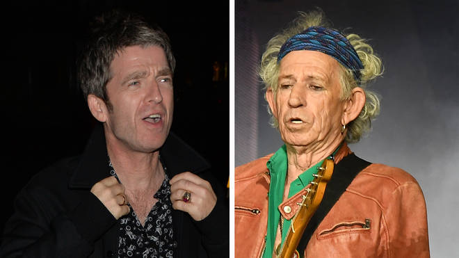 Noel Gallagher and The Rolling Stones' Keith Richards