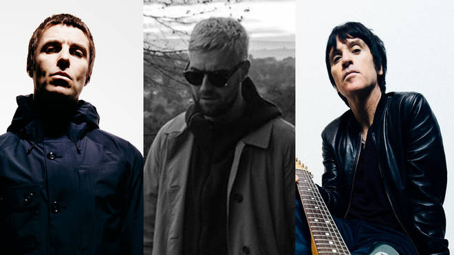 Liam Gallagher, Courteeners' Liam Fray and Johnny Marr