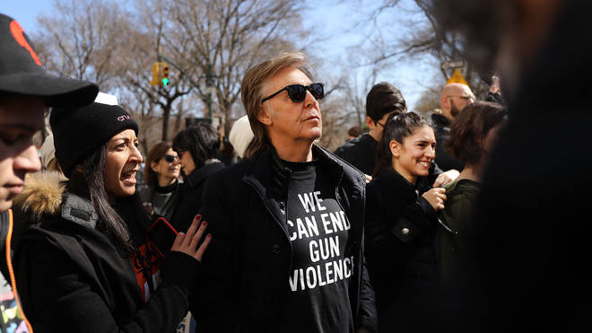 Paul McCartney marches for gun reform, March 2018