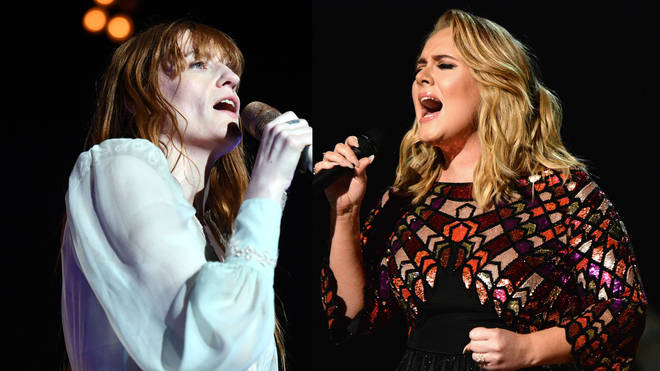 Florence Welch and Adele performing live