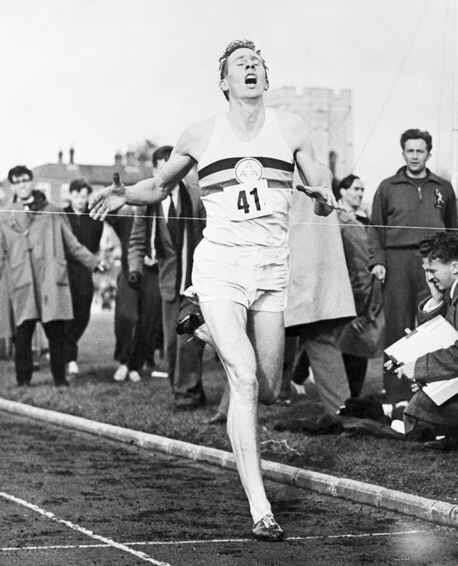 Roger Bannister breaks the four-minute mile