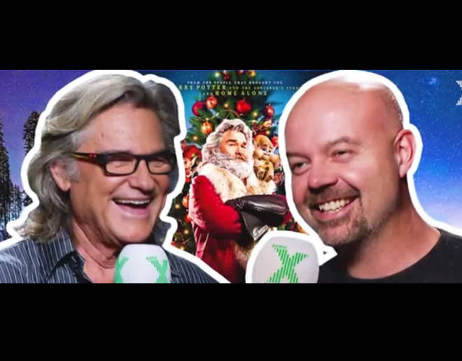 Dominic Byrne interviews Kurt Russell for The Chris Moyles Show in 2018