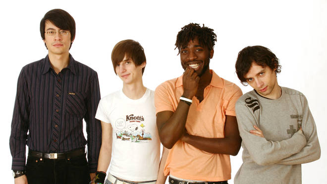 Bloc Party in 2005: Simon Tong, Russell Lissack, Kele Okereke and Gordon Moakes